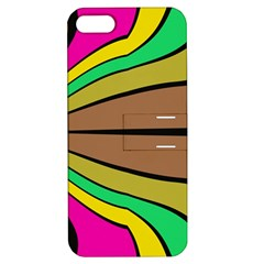 Symmetric Waves Apple Iphone 5 Hardshell Case With Stand by LalyLauraFLM