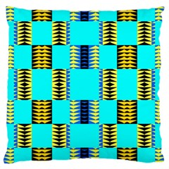 Triangles In Rectangles Pattern Large Cushion Case (two Sides) by LalyLauraFLM