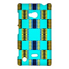 Triangles In Rectangles Pattern Nokia Lumia 720 Hardshell Case by LalyLauraFLM