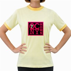 OCNYMOMS LOGO Women s Fitted Ringer T-Shirts