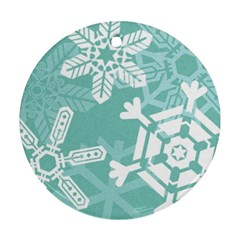 Snowflakes 3  Ornament (round)  by theimagezone