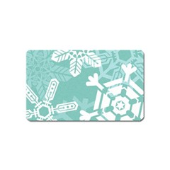 Snowflakes 3  Magnet (name Card) by theimagezone