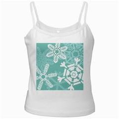 Snowflakes 3  Ladies Camisoles by theimagezone