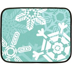 Snowflakes 3  Fleece Blanket (mini) by theimagezone