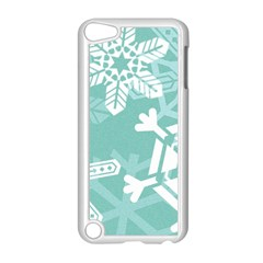 Snowflakes 3  Apple Ipod Touch 5 Case (white) by theimagezone