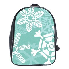 Snowflakes 3  School Bags (xl)  by theimagezone