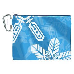 Snowflakes 1  Canvas Cosmetic Bag (xxl)  by theimagezone