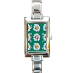 Daisy Pattern  Rectangle Italian Charm Watches by theimagezone