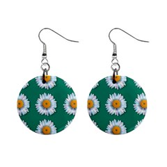 Daisy Pattern  Mini Button Earrings by theimagezone