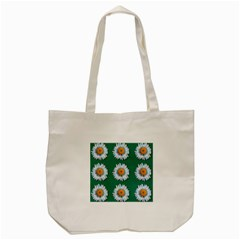 Daisy Pattern  Tote Bag (cream)  by theimagezone