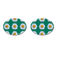 Daisy Pattern  Cufflinks (oval) by theimagezone