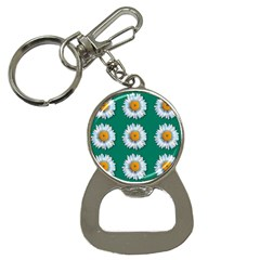 Daisy Pattern  Bottle Opener Key Chains by theimagezone