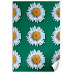 Daisy Pattern  Canvas 20  X 30   by theimagezone