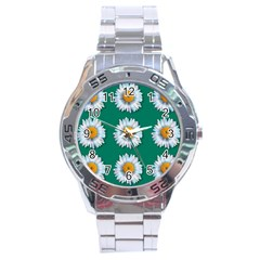 Daisy Pattern  Stainless Steel Men s Watch by theimagezone
