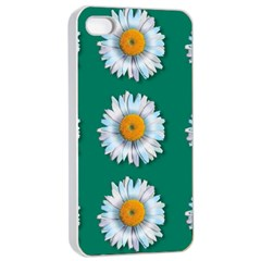 Daisy Pattern  Apple Iphone 4/4s Seamless Case (white) by theimagezone