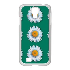 Daisy Pattern  Samsung Galaxy S4 I9500/ I9505 Case (white) by theimagezone