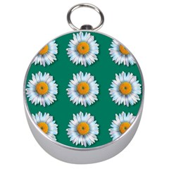 Daisy Pattern  Silver Compasses by theimagezone