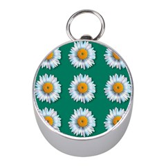 Daisy Pattern  Mini Silver Compasses by theimagezone