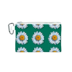 Daisy Pattern  Canvas Cosmetic Bag (s) by theimagezone