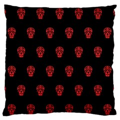 Skull Pattern Red Large Flano Cushion Cases (one Side)  by MoreColorsinLife