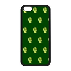 Skull Pattern Green Apple Iphone 5c Seamless Case (black) by MoreColorsinLife