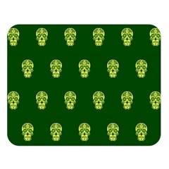Skull Pattern Green Double Sided Flano Blanket (large)  by MoreColorsinLife