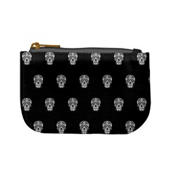 Skull Pattern Bw  Mini Coin Purses by MoreColorsinLife