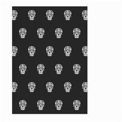 Skull Pattern Bw  Large Garden Flag (Two Sides) by MoreColorsinLife