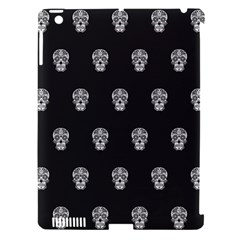 Skull Pattern Bw  Apple Ipad 3/4 Hardshell Case (compatible With Smart Cover) by MoreColorsinLife