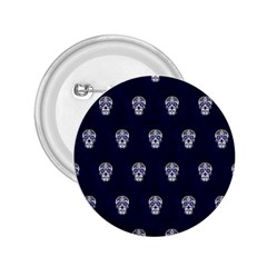 Skull Pattern Blue  2 25  Buttons by MoreColorsinLife