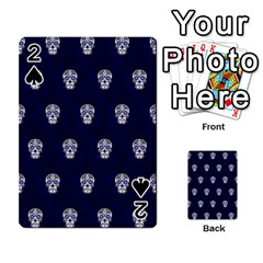 Skull Pattern Blue  Playing Cards 54 Designs  by MoreColorsinLife