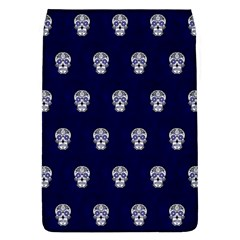Skull Pattern Blue  Flap Covers (l)  by MoreColorsinLife