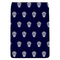 Skull Pattern Blue  Flap Covers (s)  by MoreColorsinLife