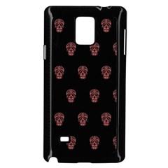 Skull Pattern Pink  Samsung Galaxy Note 4 Case (black)