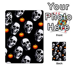 Skulls And Pumpkins Playing Cards 54 Designs  by MoreColorsinLife