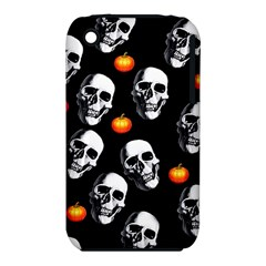 Skulls And Pumpkins Apple iPhone 3G/3GS Hardshell Case (PC+Silicone) by MoreColorsinLife
