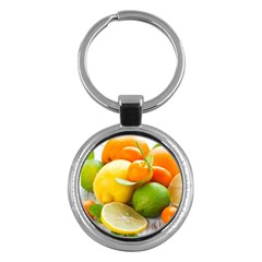 Citrus Fruits Key Chains (Round)  by emkurr