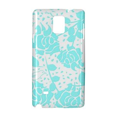 Floral Wallpaper Aqua Samsung Galaxy Note 4 Hardshell Case by ImpressiveMoments