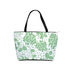 Floral Wallpaper Green Shoulder Handbags by ImpressiveMoments