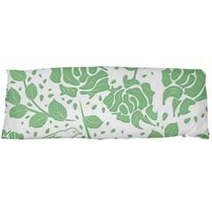 Floral Wallpaper Green Body Pillow Cases (dakimakura)  by ImpressiveMoments