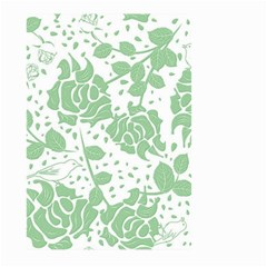 Floral Wallpaper Green Large Garden Flag (Two Sides) by ImpressiveMoments