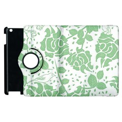Floral Wallpaper Green Apple Ipad 2 Flip 360 Case by ImpressiveMoments
