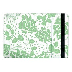 Floral Wallpaper Green Samsung Galaxy Tab Pro 10 1  Flip Case by ImpressiveMoments