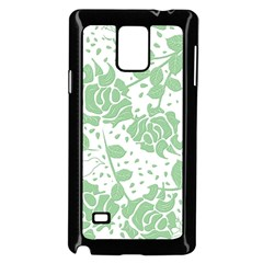 Floral Wallpaper Green Samsung Galaxy Note 4 Case (black) by ImpressiveMoments