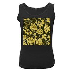 Floral Wallpaper Forest Women s Black Tank Tops by ImpressiveMoments