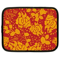 Floral Wallpaper Hot Red Netbook Case (xl)  by ImpressiveMoments