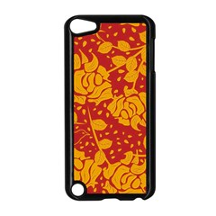 Floral Wallpaper Hot Red Apple Ipod Touch 5 Case (black) by ImpressiveMoments
