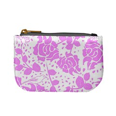 Floral Wallpaper Pink Mini Coin Purses by ImpressiveMoments