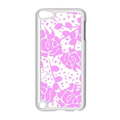 Floral Wallpaper Pink Apple iPod Touch 5 Case (White) by ImpressiveMoments