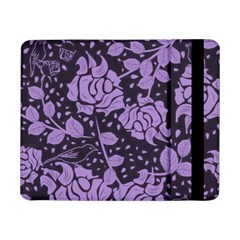 Floral Wallpaper Purple Samsung Galaxy Tab Pro 8.4  Flip Case by ImpressiveMoments